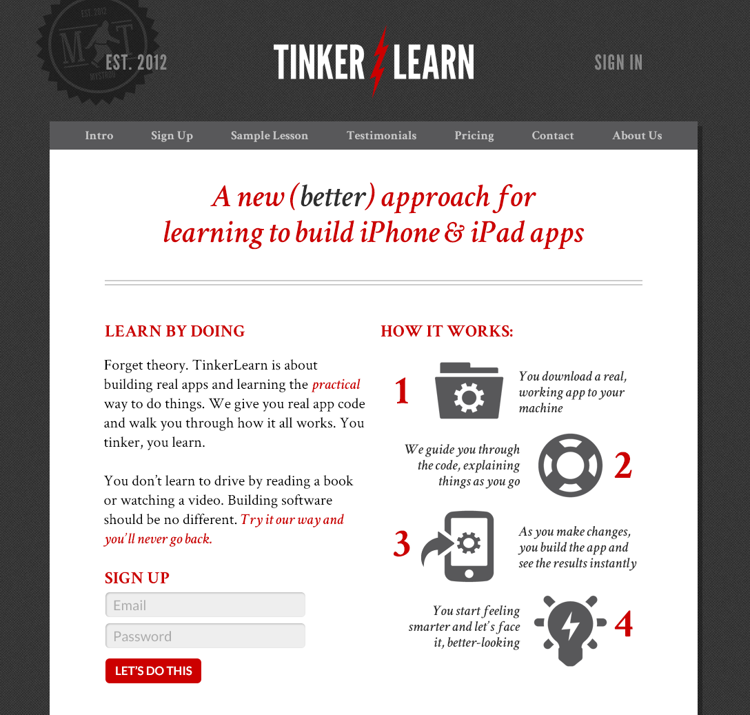 A web app and example ios app source code to help people learn by tinkering.