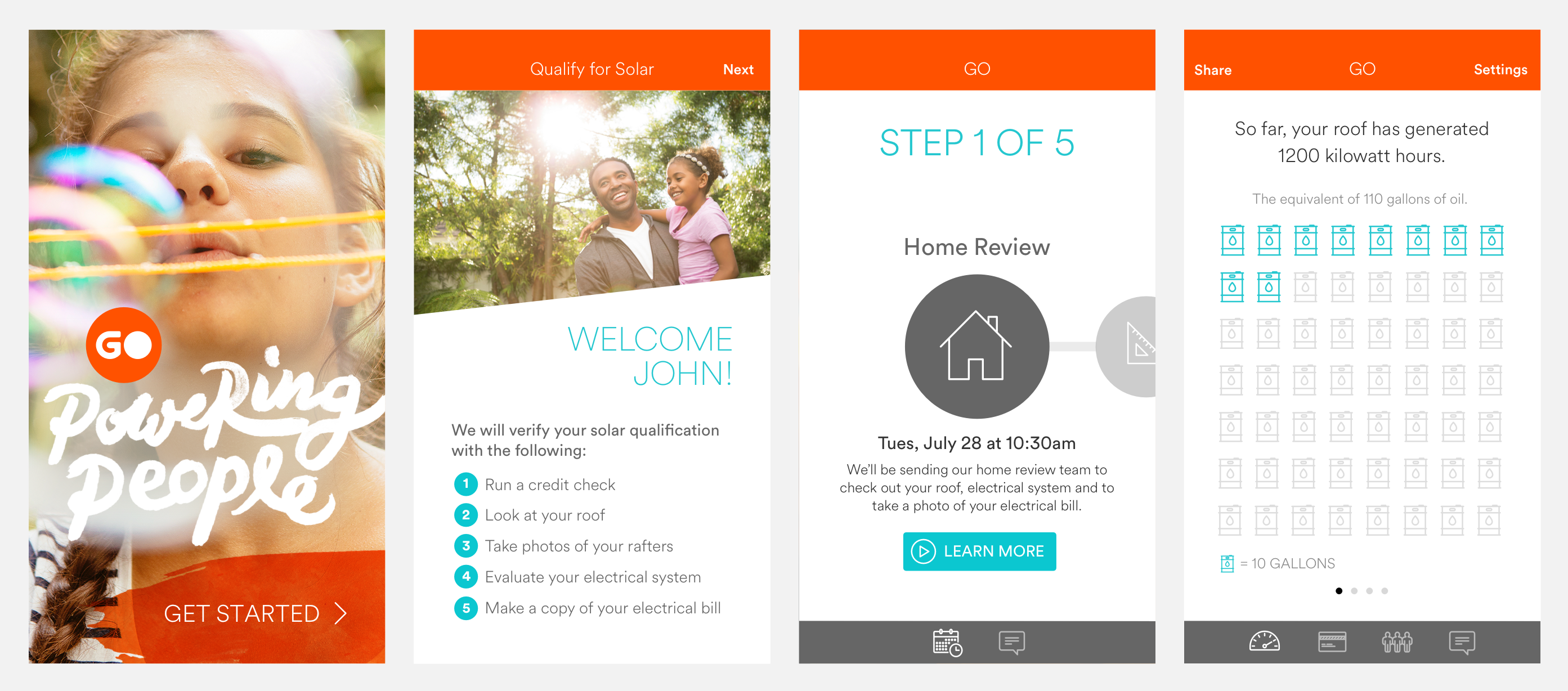 Worked as a contractor for Vivint Solar to build their customer app prototypes.